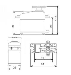 MG995-Dimensions
